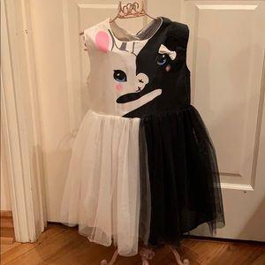 Other - Brand new little girl black & white kitty dress!